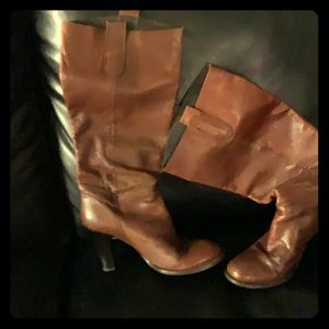 Fossil caramel brown high leather boots